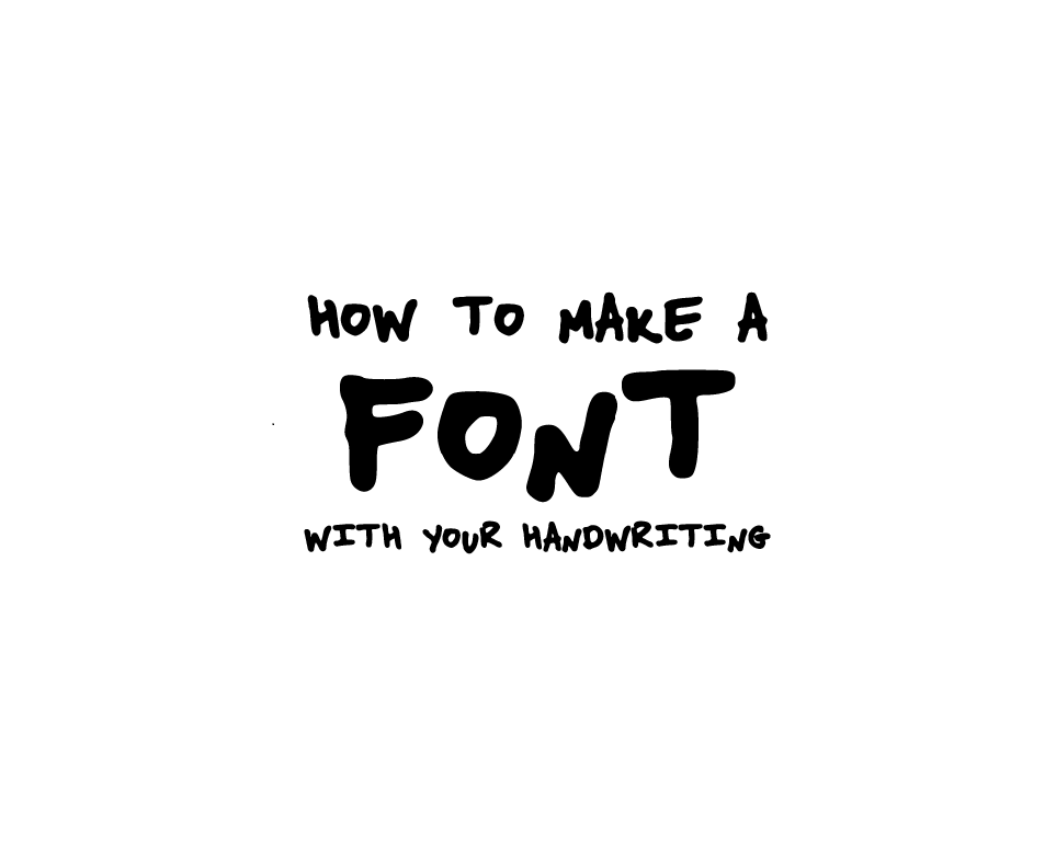 how to type in your own handwriting