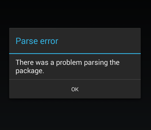 Problem Parsing the Package