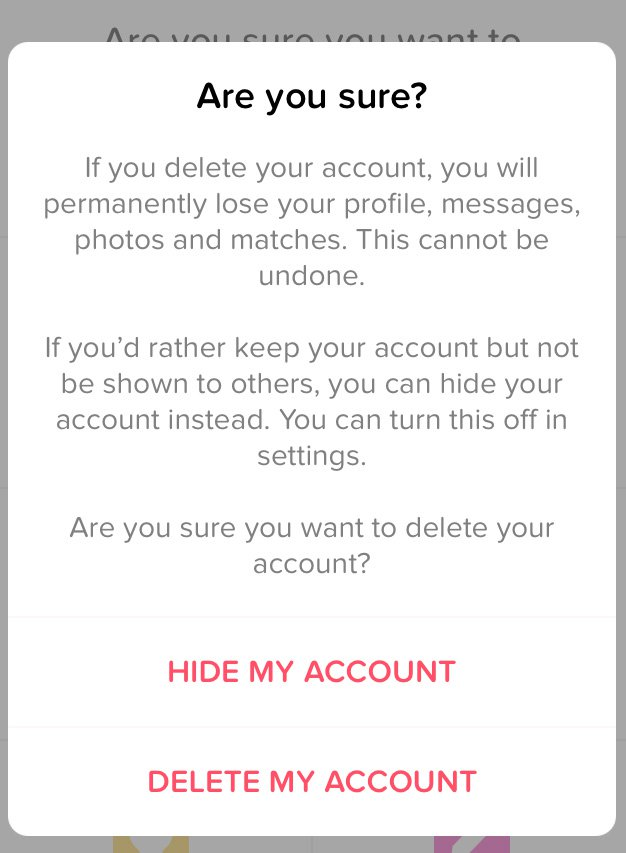 How to Delete Tinder Account Permanently - Tricky Bell