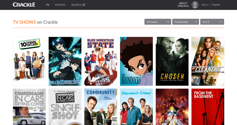 Sony Crackle Best Showbox Alternatives