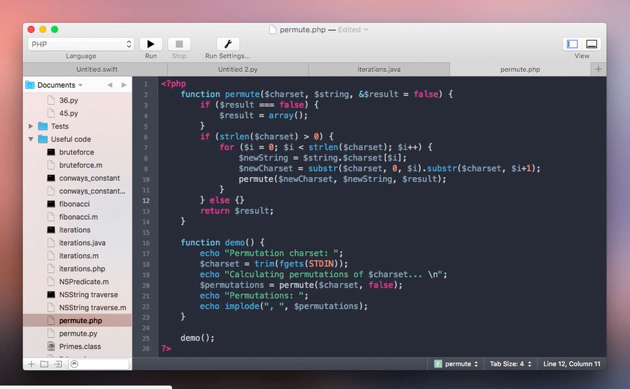 CodeRunner 2 Alternatives to Notepad++ for Mac OS