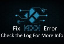 Fix Kodi Error