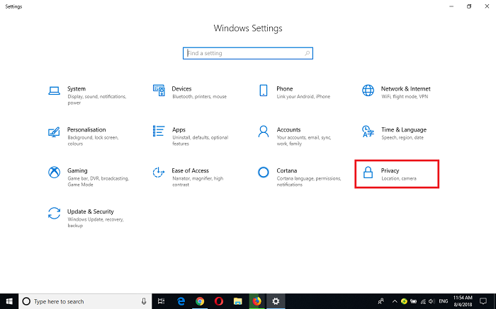 Disable Websites From Tracking Your Location in Microsoft Edge