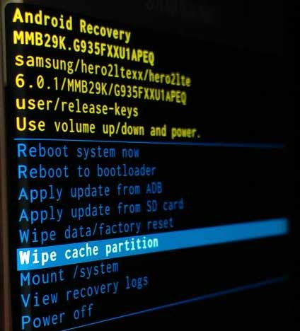 Wipe the Cache Partition