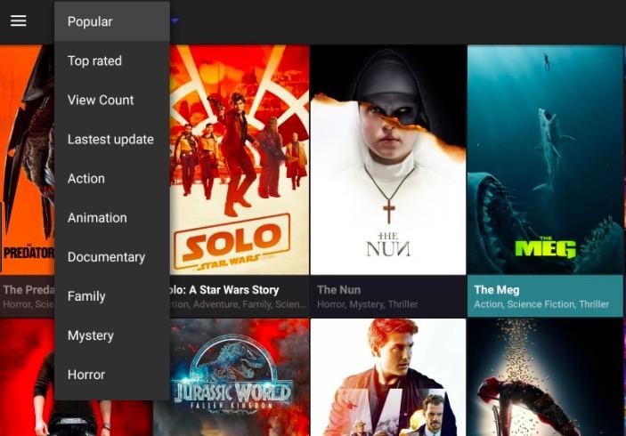 Cinema APK Movies UI