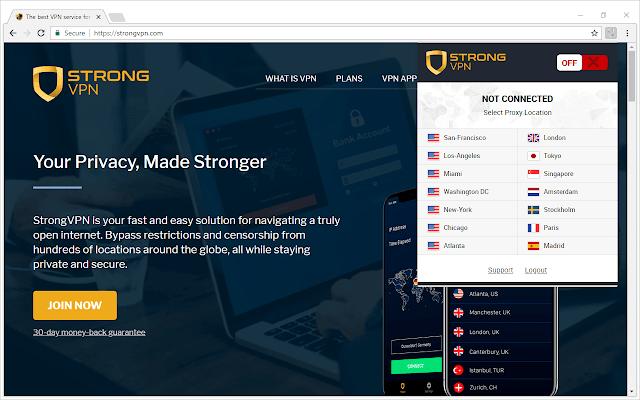 Strong VPN-Best VPN extensions for Chrome