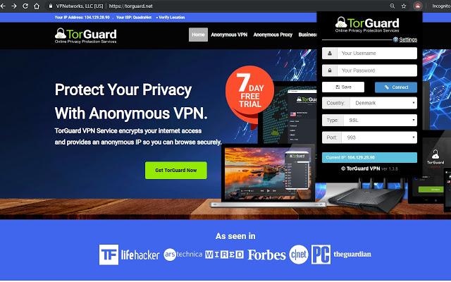TorGuard-Best VPN extensions for Chrome