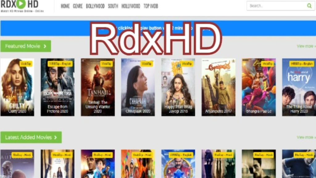 RdxHD best sites to download punjabi movies
