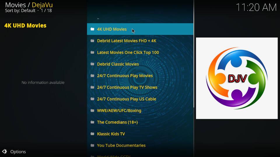best kodi movie addons- dejavu